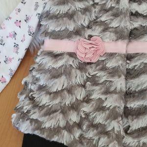 Little Lass Matching Sets - Little Lass 3 pc set vest top leggings 18 months